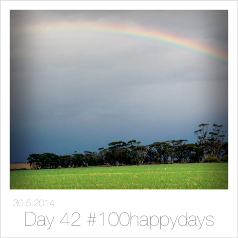#rainydays and #rainbows of course I am happy xx